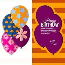 birthday postcard template birthday greetings template greeting card vector postcard
