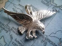 solid sterling silver eagle pendant
