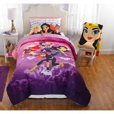 warner brothers dc superhero girls comic girl bed in a bag bedding set com