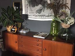 Mid century modern chair styles Walnut Michelle Birch Sideboard World Market Midcentury Modern Interior Style Ideas Using Secondhand Furniture