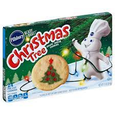 Since you can choose from christmas tree, reindeer, and snowman designs, it's easy to pick two contrasting colors. Pillsbury Ready To Bake Christmas Tree Shape Sugar Cookies Shop Biscuit Cookie Dough At H E B