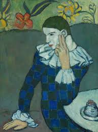 pablo picasso artist heilbrunn timeline of art history the seated harlequin