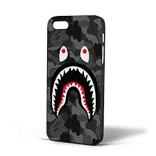 Bape Pattern Stunning Amazon Bape Shark Black Army Pattern For Iphone Case IPhone 48s