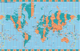Time Zone Diagram Of The World Time Zones For North America