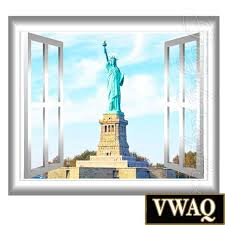 liberty bedroom wall mural: statue of liberty d window frame view new york wall mural by vwaq