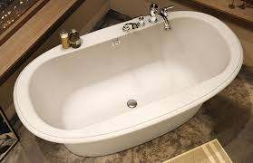 Captivating The Maax Ella Sleek Freestanding Tub We Looked At  Here The Faucet Is  Mounted To The Side