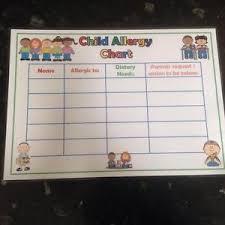 Details About Child Allergy Awareness Chart Information Childminder Nursery School