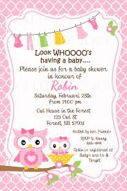 Owl Baby Shower Invitation Templates  Request A Custom Order And Baby Shower Cards To Print