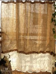 burlap curtains for rustic homes 80 x72 shabby rustic chic burlap shower curtain