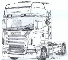 Scania R Scania400 Drawings Coloring Pages E Cars