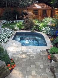 inground pools with hot tubs. Pavers That Work With Rock Inground Pools Hot Tubs
