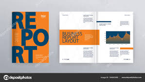 Template Layout Design Cover Page Company Profile Annual