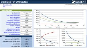 Credit Card Payoff Schedule 9 Debt Payoff Calculators Free Download