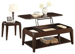 2 piece schmier modern lift top cocktail table on casters 1 end table cherry transitional coffee table sets by amoc