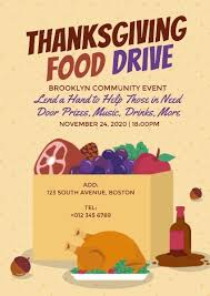 Food Drive Posters Poster Maker Design Thanksgiving Food Drive Poster Online