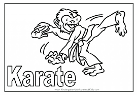 karate coloring page pages and print for free to