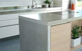 waterfall edge concrete counter material with kitchen materials from granite to laminate kitchens frame astonishing concre