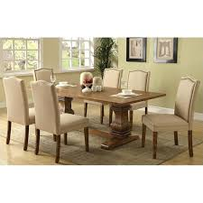 7 piece dining table coaster 7 piece dining table and chair set in coffee freeport brown