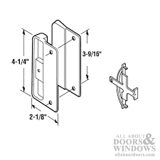 internal latch sliding screen door latch pull
