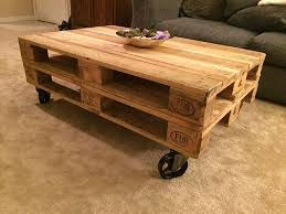 11 pallet coffee table with 5 x 1 1 4 vintage black cast iron swivel caster