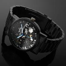 aliexpress com buy 2016 new black men s skeleton wristwatch aliexpress com buy 2016 new black men s skeleton wristwatch stainless steel antique steampunk casual automatic skeleton mechanical watches male from