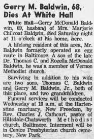Obituary for Gerry Mc Donald Baldwin (Aged 69) - Newspapers.com