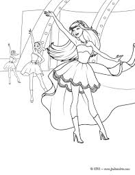 20 Dessins De Coloriage Barbie Danseuse Imprimer
