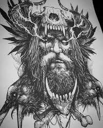 Father Odin Illustration In Progress татуировки татуировки