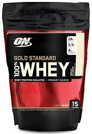 optimum nutrition gold standard 100 whey protein powder vanilla ice cream 1 pound