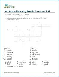 Vocab Building Worksheets Grammar Worksheets For Grade 4 Vocabulary Of Pdf