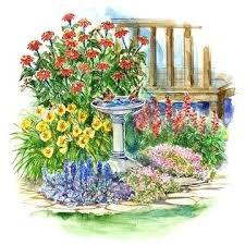 marvelous small perennial garden plan small space drought resistant garden plan small perennial garden plants