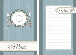pages menu template template of front and back pages for menu royalty free cliparts