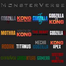Godzilla Chart Tweaked Monsterverse Phase Chart Godzilla
