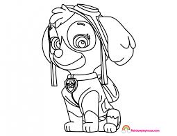 Paw Patrol Skye Coloring Page Rainbow Playhouse Coloring Pages For
