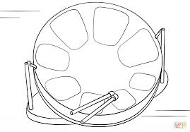 Steel Drum coloring page | Free Printable Coloring Pages