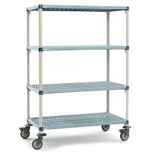 3-shelf shelving unit / modular / wire / mobile 9.21 InterMetro B.V. ...