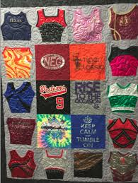 Quilt made from gymnastic outfits and t-shirts – IMG_6868 | Over ... & Published February 17, 2016 at 913 × 1212 in T-Shirts Quilt Gallery Adamdwight.com