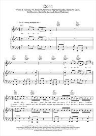 ed sheeran sheet music dont sheet music by ed sheeran piano vocal guitar right hand