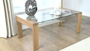 glass coffee table oak picture on awesome top light solid wood legs clear and
