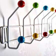 Atomic Coat Rack 100 HOOK COLOURFUL WALL COAT HOOKS RACK COLOR BUD mounted hanger pegs 91