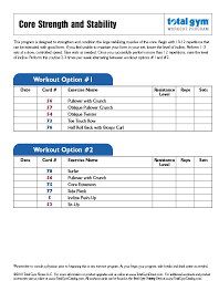 Home Gym Exercise Chart Free Download Www