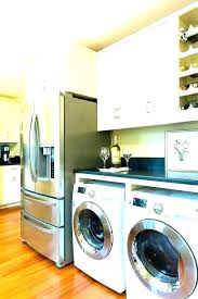 washer and dryer laundry room ideas depth build over accessory countertop height dry