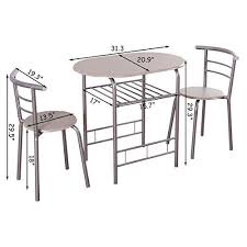 KCHEX>>><b>3 Piece Dining Set</b> Table 2 Chairs Bistro Pub Home ...