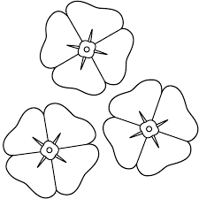 This Poppies Coloring Page Features A