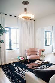modern white curtains for living