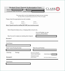 Direct Deposit Form Template Generic Direct Deposit Form Staggering 47 Direct Deposit