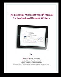 Essential Ms Word Manual Format Resumes Holly Genser