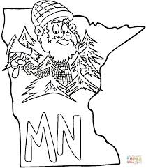 Small Picture Minnesota Map coloring page Free Printable Coloring Pages