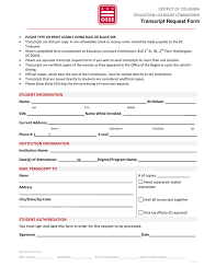 Transcript Request Form In Word And Pdf Formats