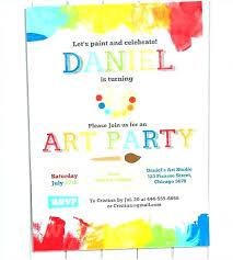 art birthday party invitations wording luxury for paint rainbow war free artist birthday party